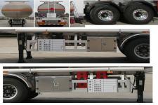 楚胜牌CSC9350GYYL型铝合金运油半挂车图片