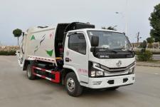 国六蓝牌东风5方压缩式垃圾车价格