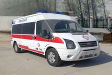国六福特全顺V348长轴中顶监护型救护车