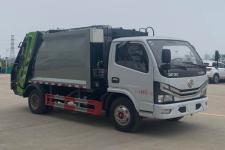 國六東風多利卡藍牌4方壓縮垃圾車廠家報價多少錢
