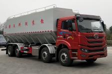 国六解放前四后六 20吨40方散装饲料运输车
