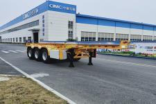 中集8.5米34.5吨3轴危险品罐箱骨架运输半挂车(ZJV9402TWYDG)