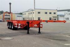 黄海12.4米34.8吨3轴危险品罐箱骨架运输半挂车(DD9400TWY)