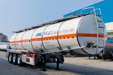 中集11.7米31.7噸3軸腐蝕性物品罐式運輸半掛車(ZJV9407GFWJM)
