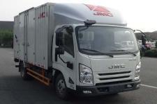 江鈴國六單橋廂式貨車122-207馬力5噸以下(JX5043XXYTG26)