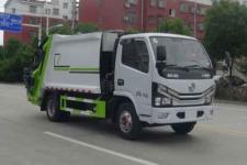 國六藍牌東風后裝6方壓縮垃圾車價格/東風6方壓縮垃圾車廠家報價