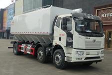 國六解放J6L小三軸散裝飼料運輸車