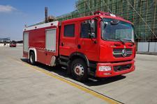 国六东风6吨水罐消防车|多利卡D9双排座水罐消防车