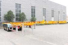 锣响12.4米34.2吨3轴危险品罐箱骨架运输半挂车(LXC9400TWY)