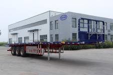 锣响12米34.3吨3轴平板运输半挂车(LXC9400TPB)