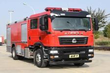 重汽汕德卡8吨水罐消防车_8吨水罐消防车图片