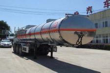 醒狮10.5米32吨3轴易燃液体罐式运输半挂车(SLS9403GRY)