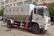 国六东风10吨散装饲料运输车