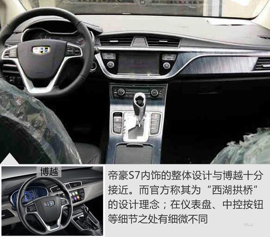 博瑞涟漪深入帝豪S7 搭1.3T动力明年上市高清图片