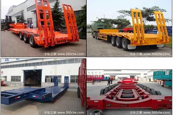 2亚隆挂车 13米 低平板运输半挂车