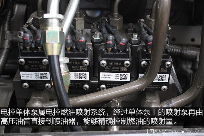 在玉柴发动机比较多用电控单体泵,其优点就在于坏了不一定要换总成,且